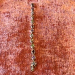 Jewelry - Sterling silver genuine stone bracelet